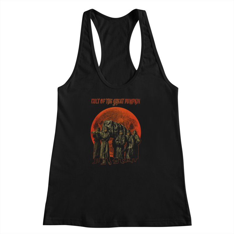 Cult of the Great Pumpkin: Pallbearers Women's Racerback Tank by The Dark Art of Chad Savage