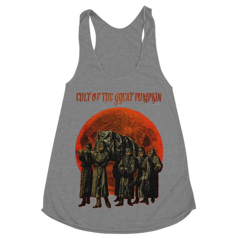 Cult of the Great Pumpkin: Pallbearers Women's Racerback Triblend Tank by The Dark Art of Chad Savage