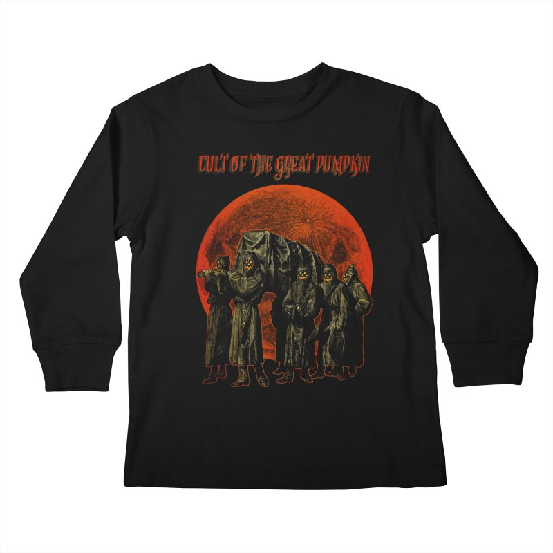 Cult of the Great Pumpkin: Pallbearers Kids Longsleeve T-Shirt by The Dark Art of Chad Savage