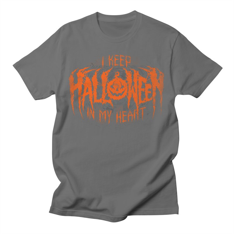 I Keep Halloween In My Heart Men's T-Shirt by The Dark Art of Chad Savage