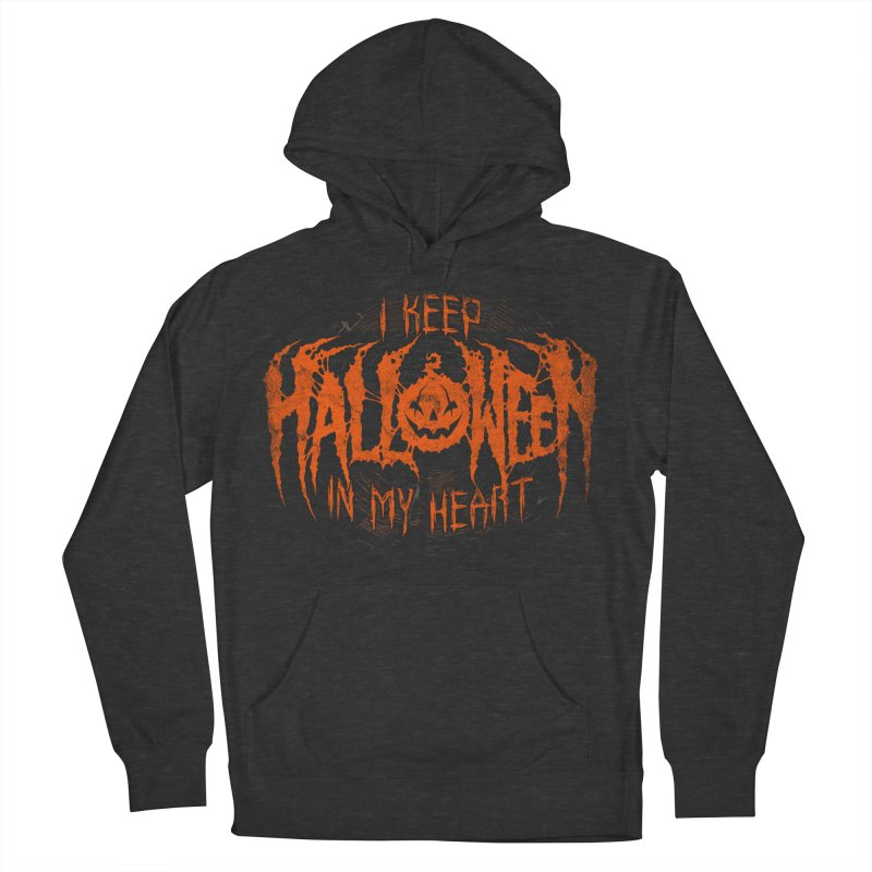 I Keep Halloween In My Heart Women's French Terry Pullover Hoody by The Dark Art of Chad Savage