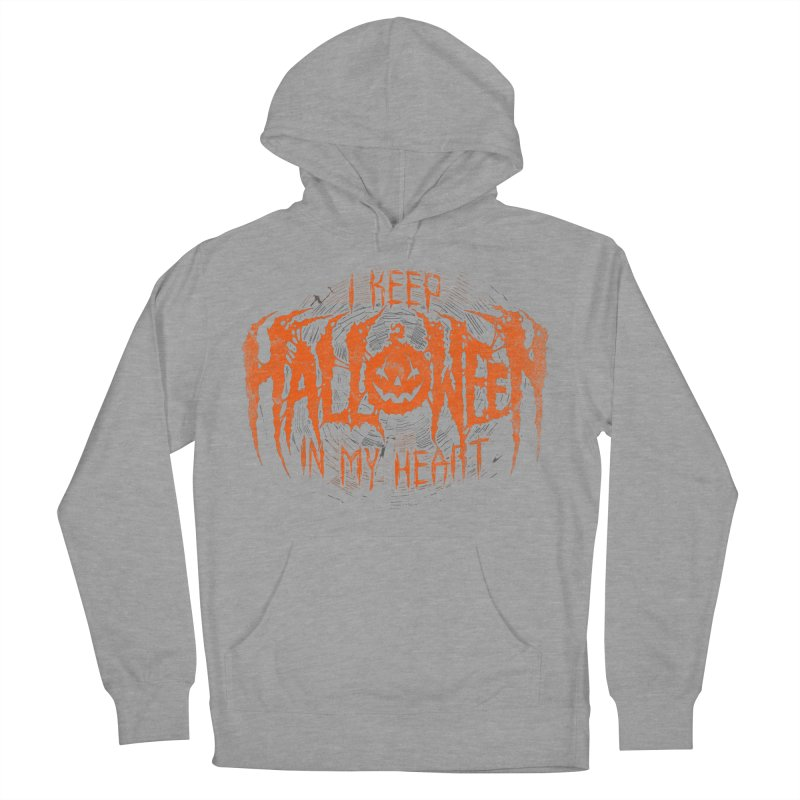 I Keep Halloween In My Heart Men's French Terry Pullover Hoody by The Dark Art of Chad Savage