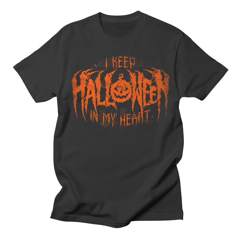 I Keep Halloween In My Heart Men's Regular T-Shirt by The Dark Art of Chad Savage