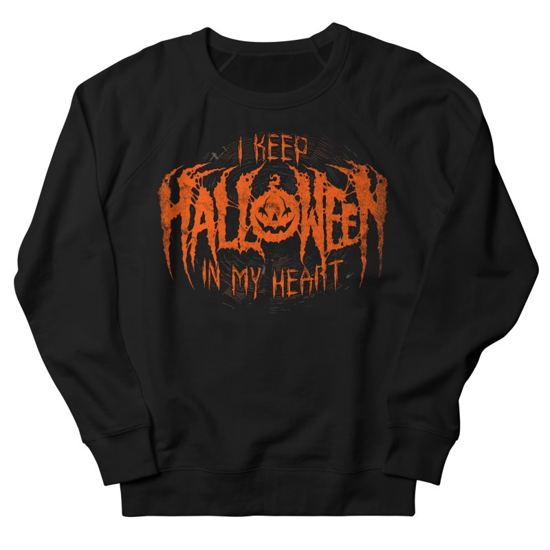 I Keep Halloween In My Heart Men's Sweatshirt by The Dark Art of Chad Savage