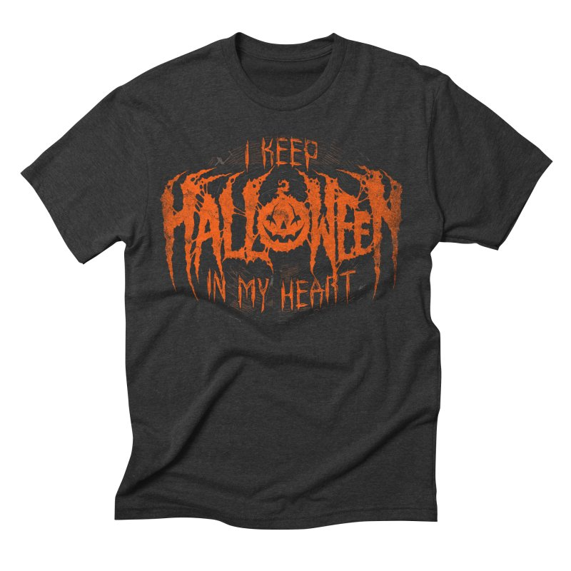 I Keep Halloween In My Heart Men's Triblend T-Shirt by The Dark Art of Chad Savage