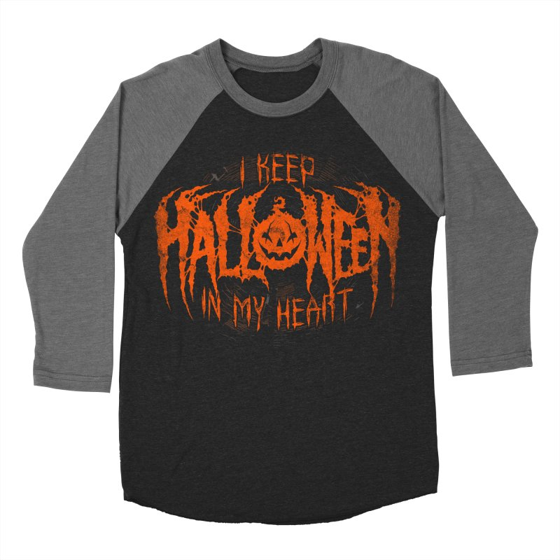 I Keep Halloween In My Heart Women's Baseball Triblend Longsleeve T-Shirt by The Dark Art of Chad Savage