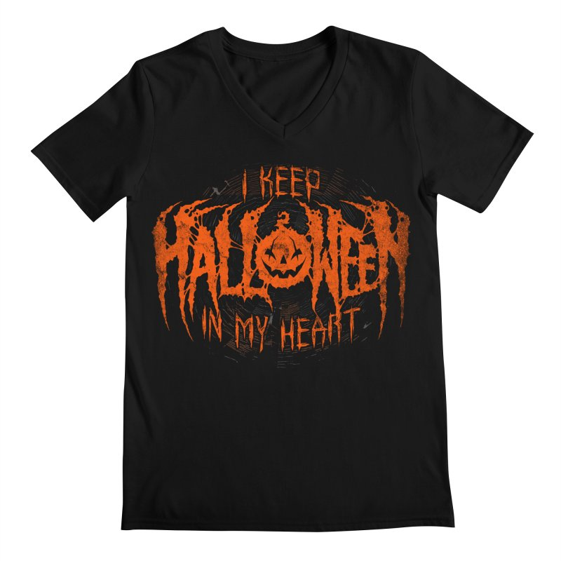 I Keep Halloween In My Heart Men's V-Neck by The Dark Art of Chad Savage