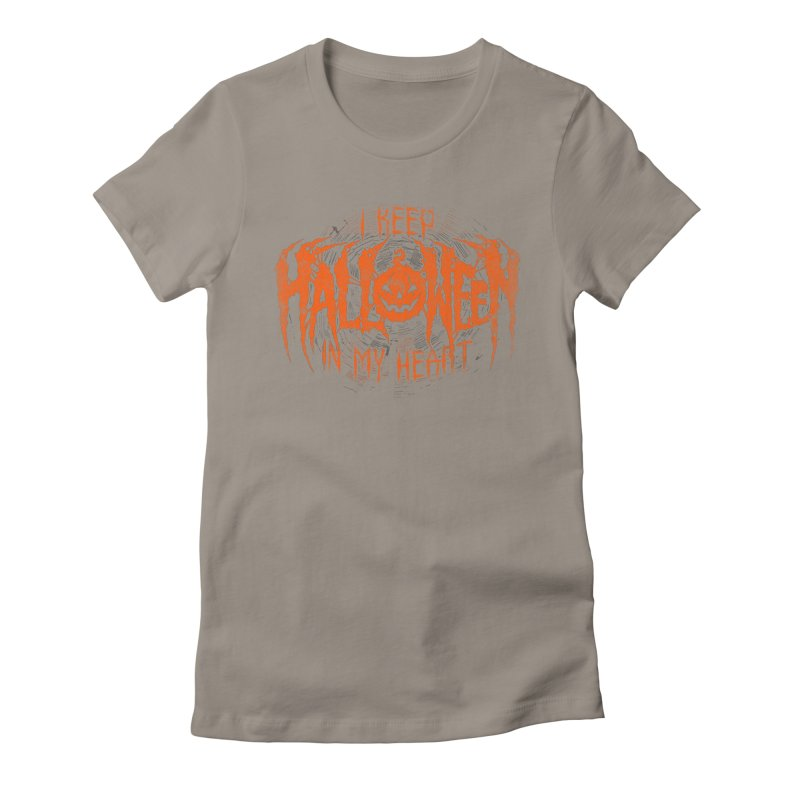 I Keep Halloween In My Heart Women's T-Shirt by The Dark Art of Chad Savage