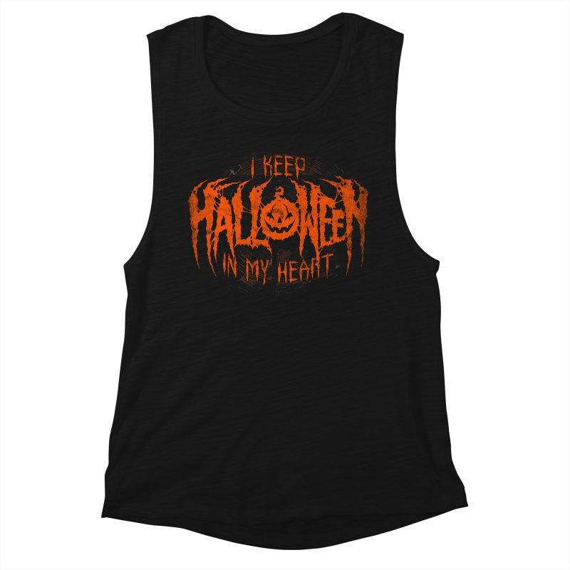 I Keep Halloween In My Heart Women's Tank by The Dark Art of Chad Savage