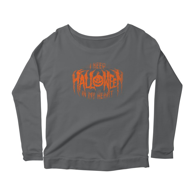 I Keep Halloween In My Heart Women's Longsleeve T-Shirt by The Dark Art of Chad Savage