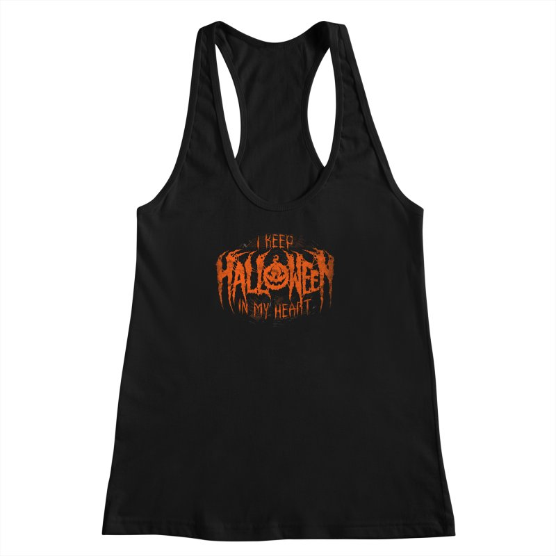I Keep Halloween In My Heart Women's Racerback Tank by The Dark Art of Chad Savage