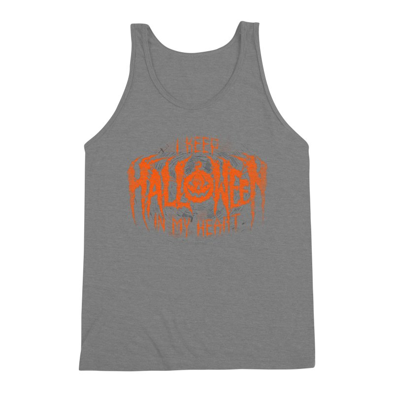 I Keep Halloween In My Heart Men's Triblend Tank by The Dark Art of Chad Savage