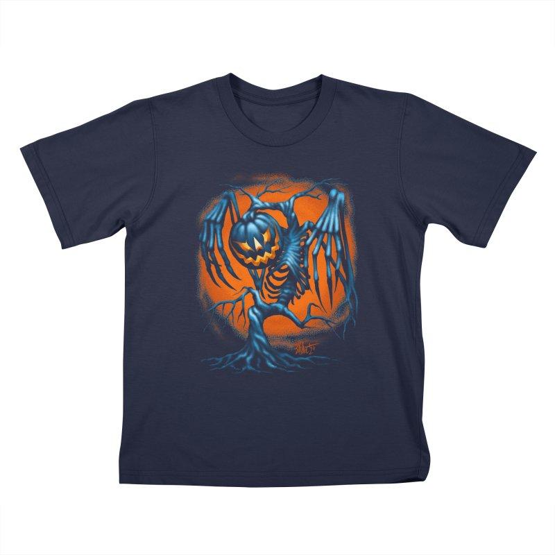 Tricker Tree Kids T-Shirt by The Dark Art of Chad Savage