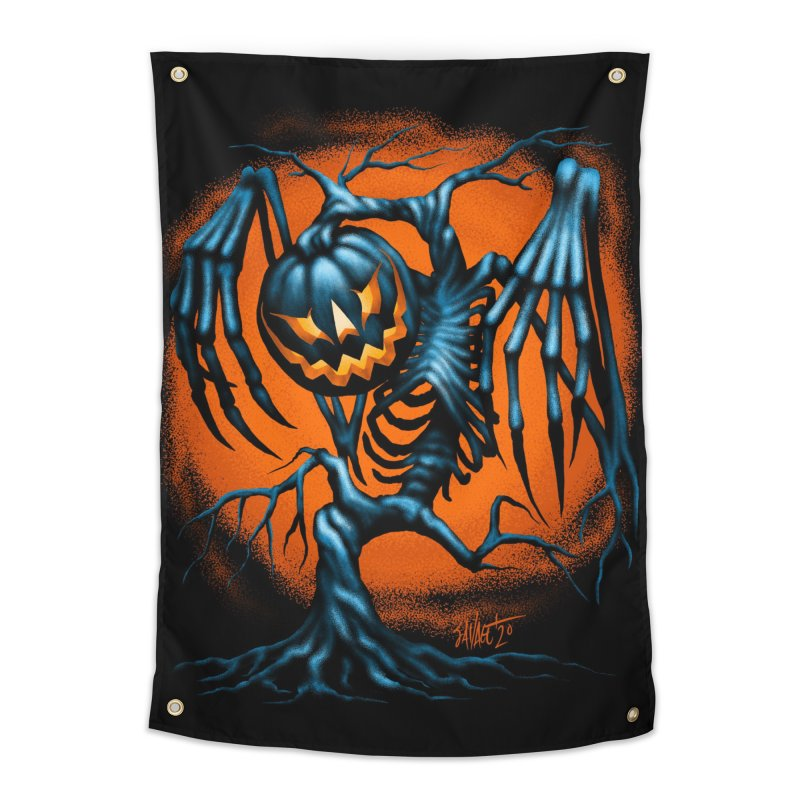 Tricker Tree Home Tapestry by The Dark Art of Chad Savage