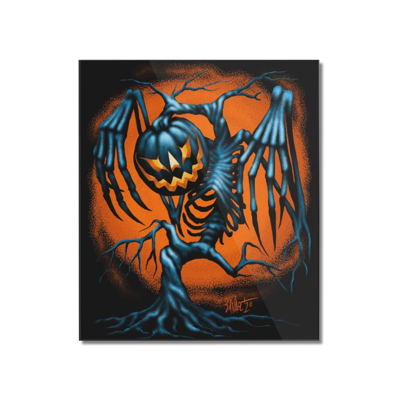 Tricker Tree Home Mounted Acrylic Print by The Dark Art of Chad Savage