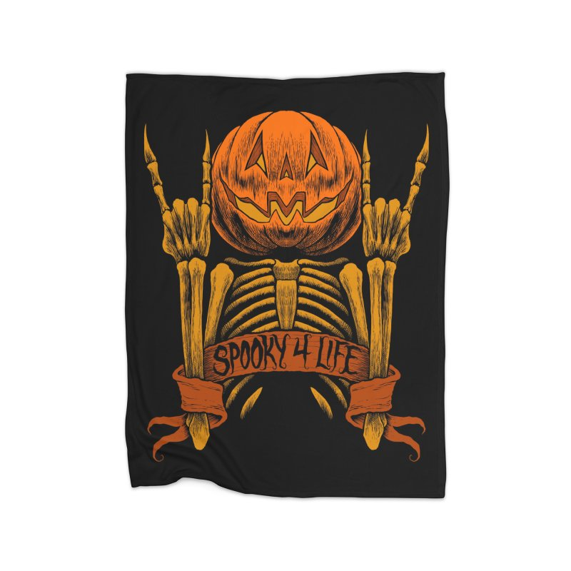 Spooky 4 Life Home Blanket by The Dark Art of Chad Savage