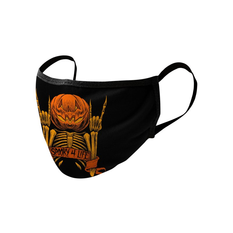 Spooky 4 Life Accessories Face Mask by The Dark Art of Chad Savage