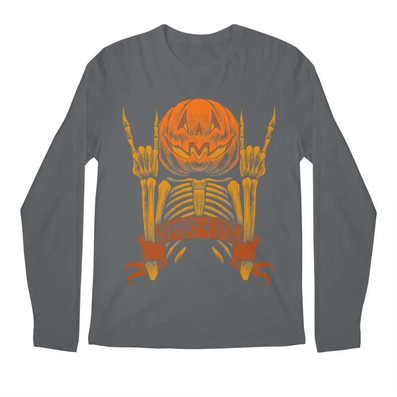 Spooky 4 Life Men's Longsleeve T-Shirt by The Dark Art of Chad Savage