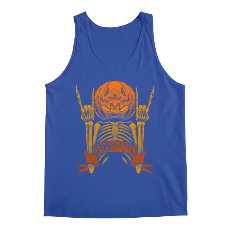 Spooky 4 Life Men's Tank by The Dark Art of Chad Savage