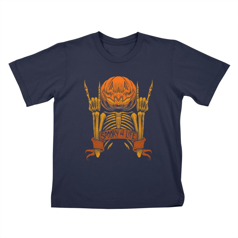 Spooky 4 Life Kids T-Shirt by The Dark Art of Chad Savage