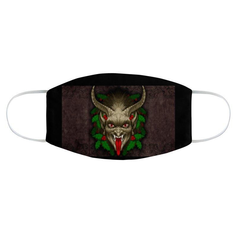 Gruss vom Krampus by Chad Savage Accessories Face Mask by The Dark Art of Chad Savage