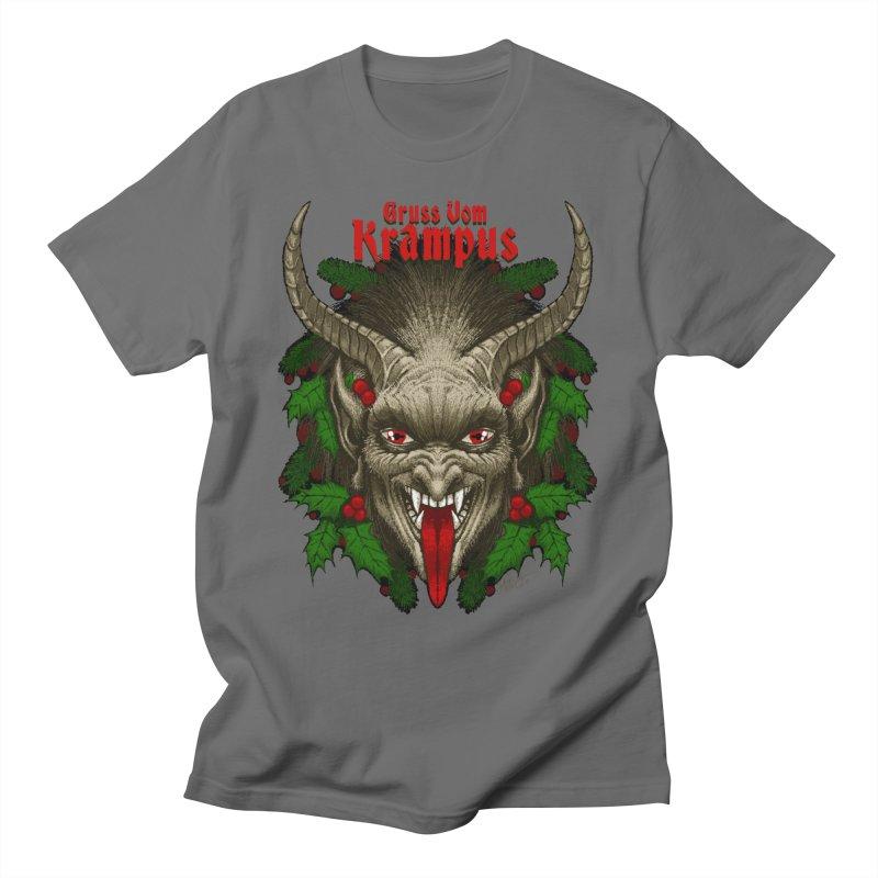 Gruss vom Krampus by Chad Savage Men's T-Shirt by The Dark Art of Chad Savage