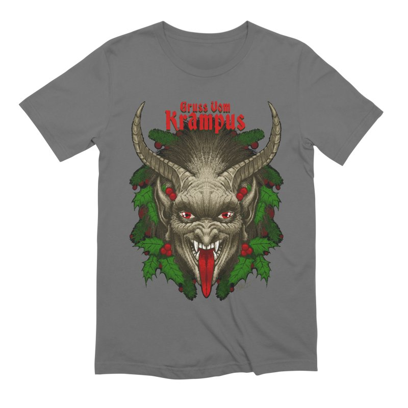 Gruss vom Krampus by Chad Savage Men's T-Shirt by The Dark Art of Chad Savage
