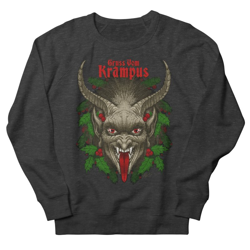 Gruss vom Krampus by Chad Savage Women's Sweatshirt by The Dark Art of Chad Savage