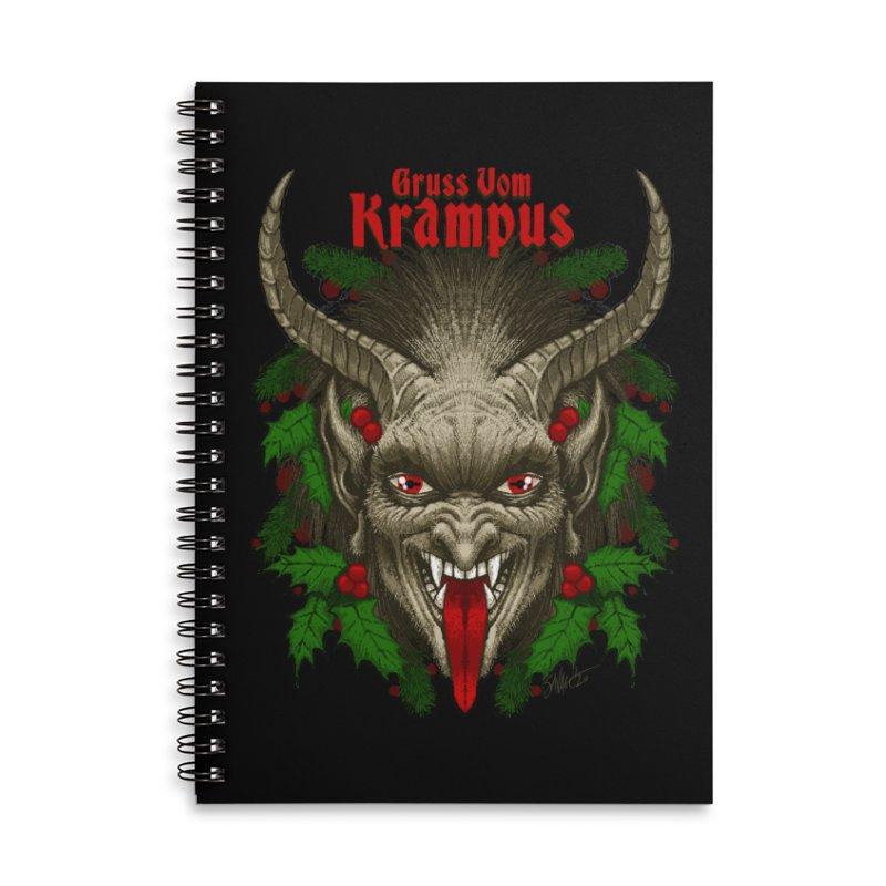 Gruss vom Krampus by Chad Savage Accessories Notebook by The Dark Art of Chad Savage