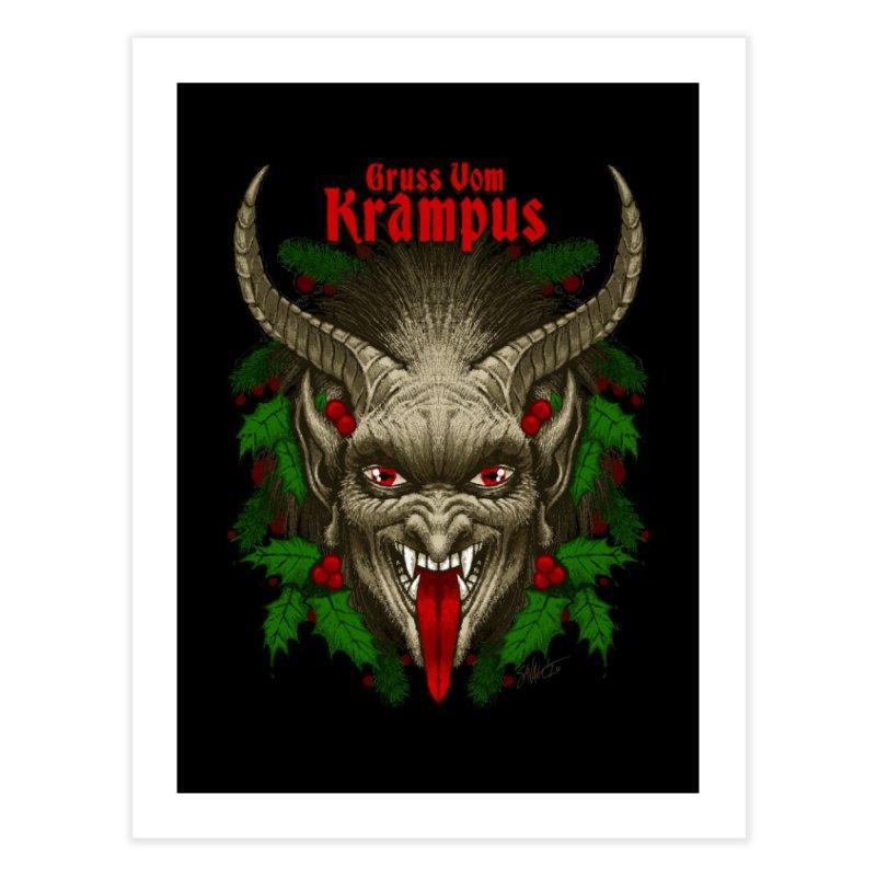 Gruss vom Krampus by Chad Savage Home Fine Art Print by The Dark Art of Chad Savage