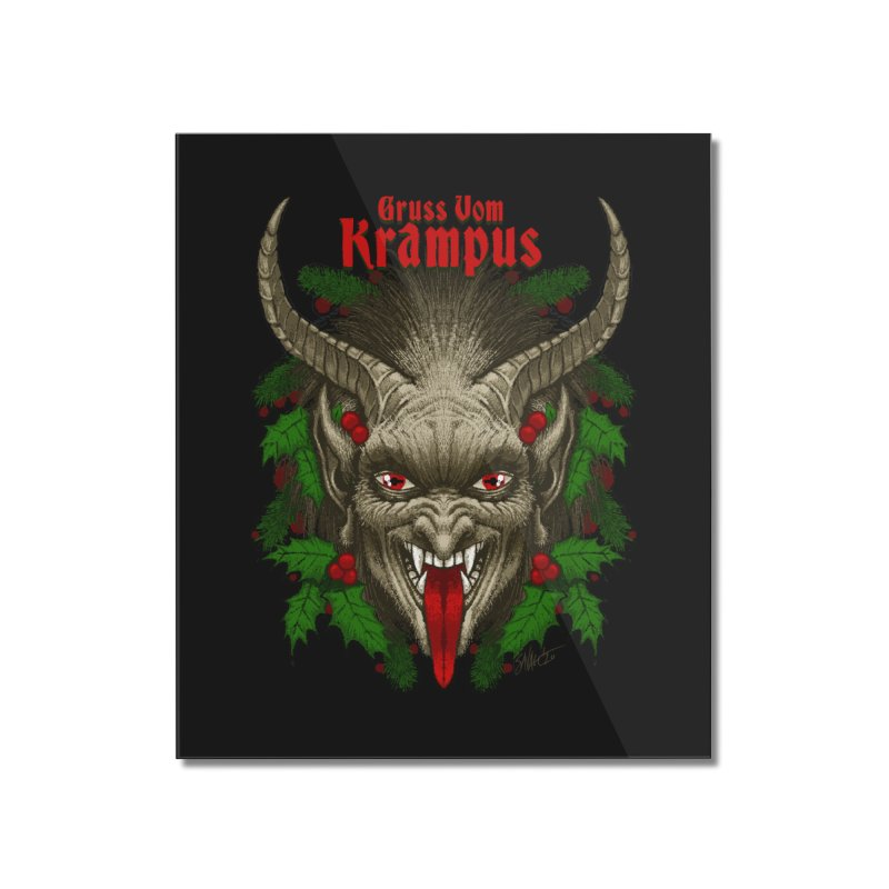 Gruss vom Krampus by Chad Savage Home Mounted Acrylic Print by The Dark Art of Chad Savage