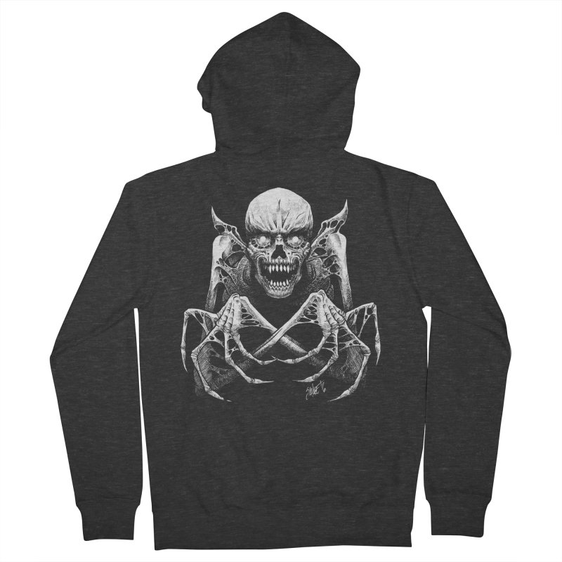 Necromancer Men's French Terry Zip-Up Hoody by The Dark Art of Chad Savage