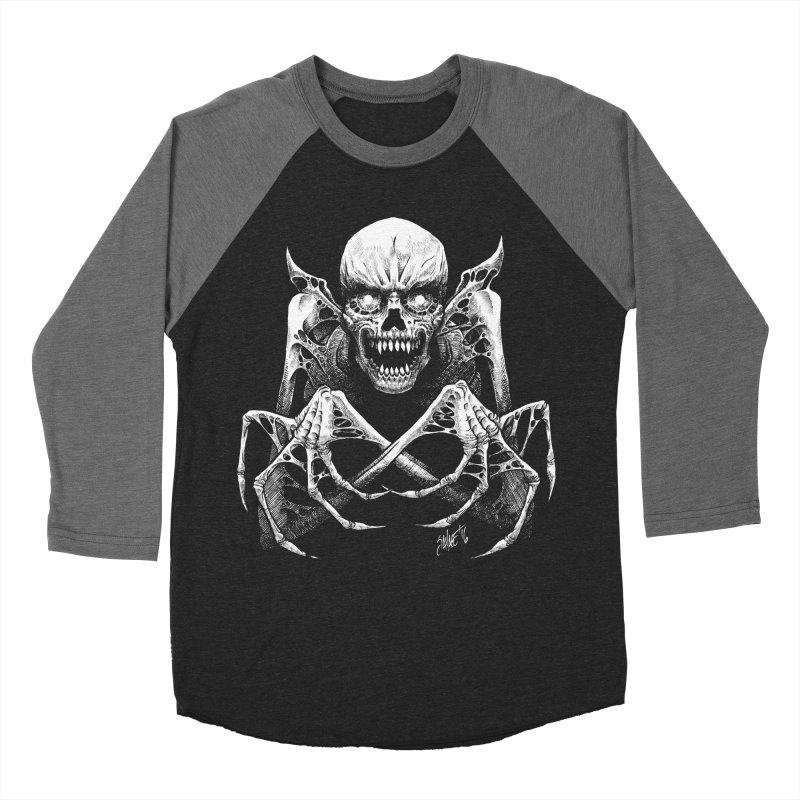 Necromancer Men's Baseball Triblend T-Shirt by The Dark Art of Chad Savage