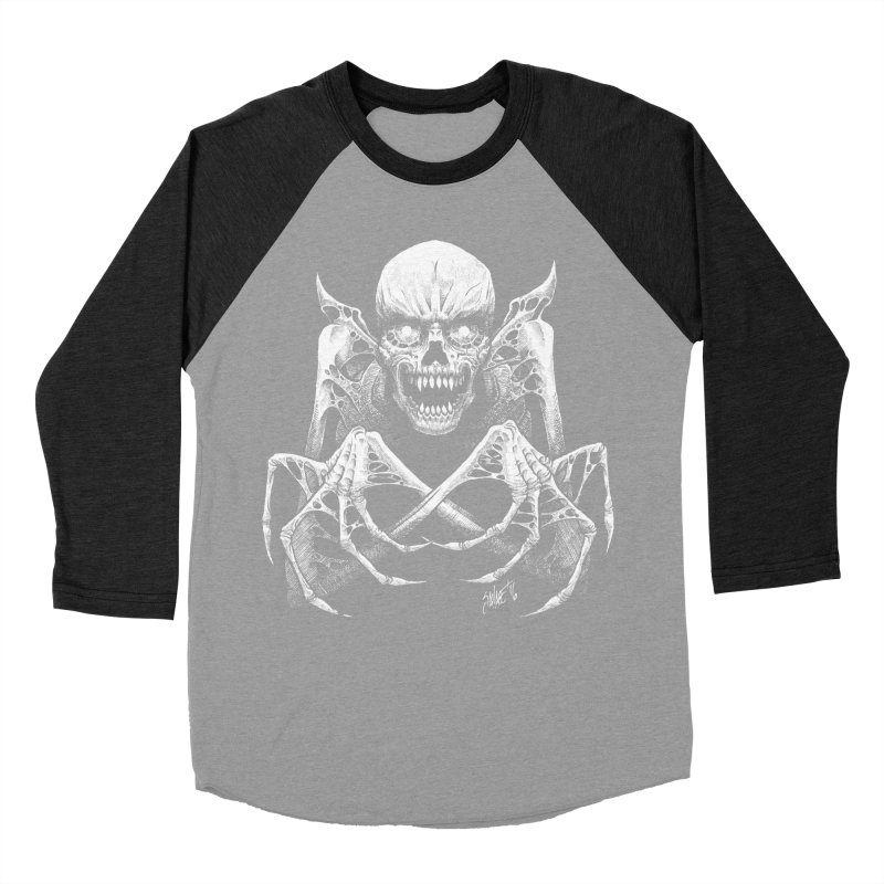 Necromancer Men's Baseball Triblend T-Shirt by The Dark Art of Chad Savage