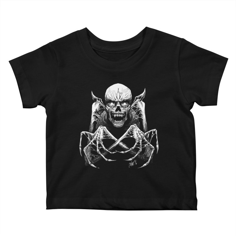 Necromancer Kids Baby T-Shirt by The Dark Art of Chad Savage