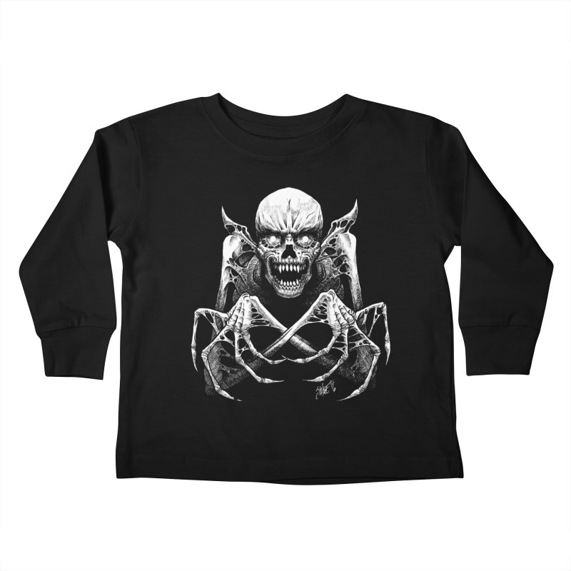 Necromancer Kids Toddler Longsleeve T-Shirt by The Dark Art of Chad Savage