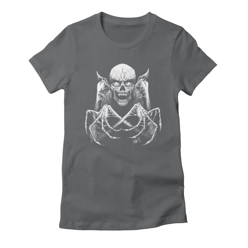 Necromancer Women's Fitted T-Shirt by The Dark Art of Chad Savage