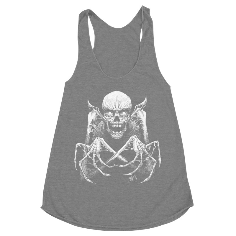 Necromancer Women's Racerback Triblend Tank by The Dark Art of Chad Savage