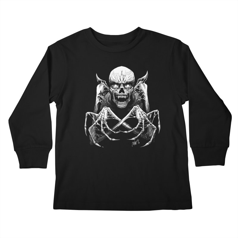 Necromancer Kids Longsleeve T-Shirt by The Dark Art of Chad Savage