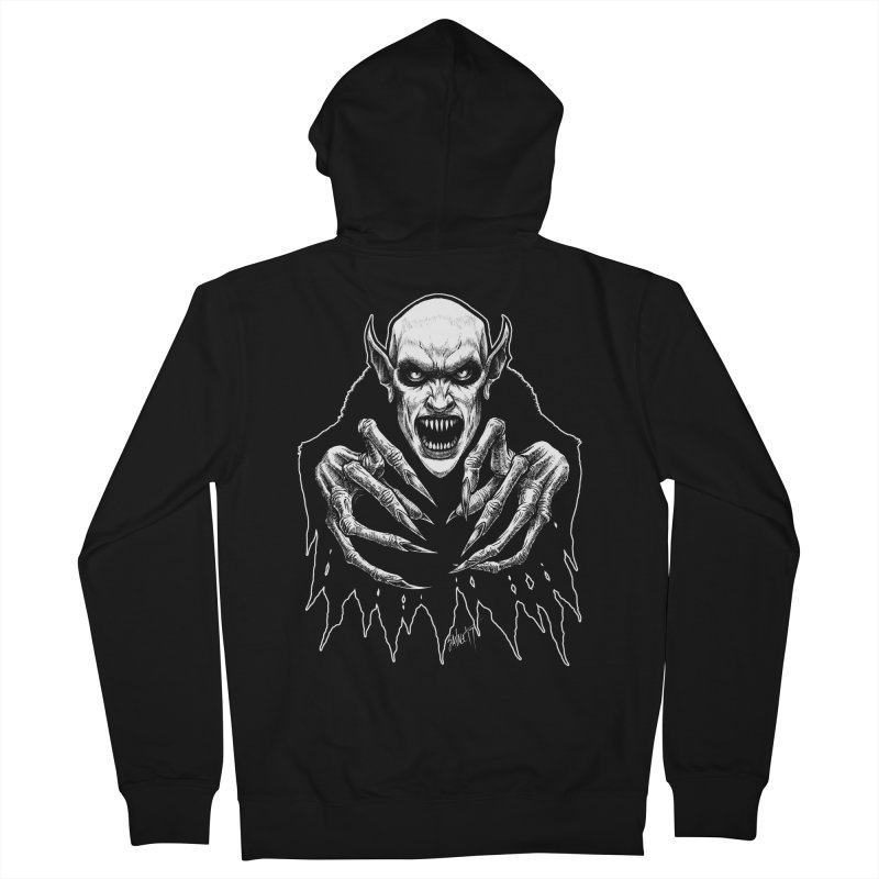 Nosfera-tude Men's Zip-Up Hoody by The Dark Art of Chad Savage