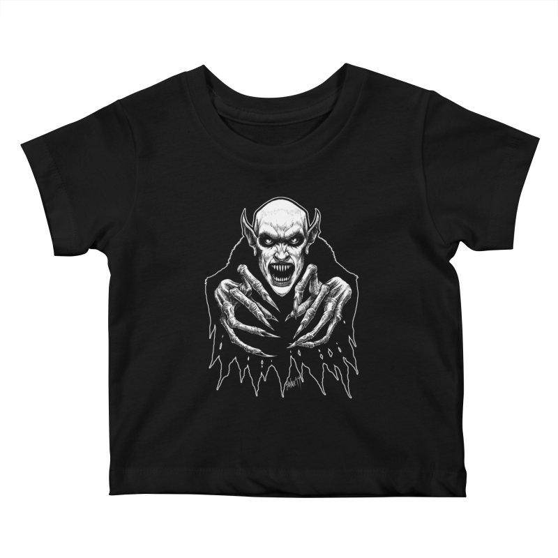 Nosfera-tude Kids Baby T-Shirt by The Dark Art of Chad Savage