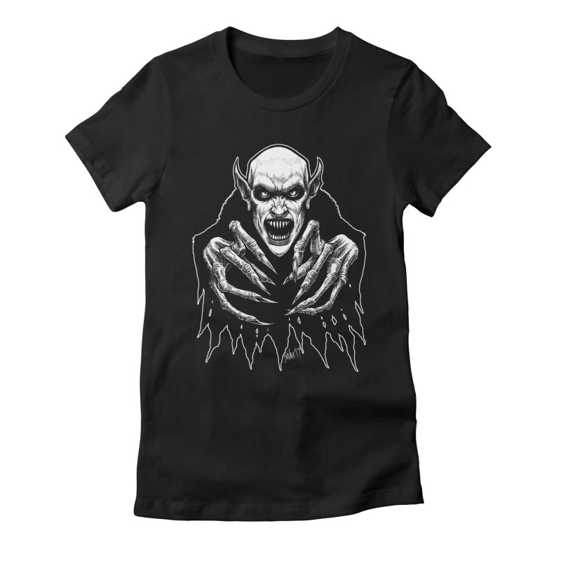 Nosfera-tude Women's Fitted T-Shirt by The Dark Art of Chad Savage