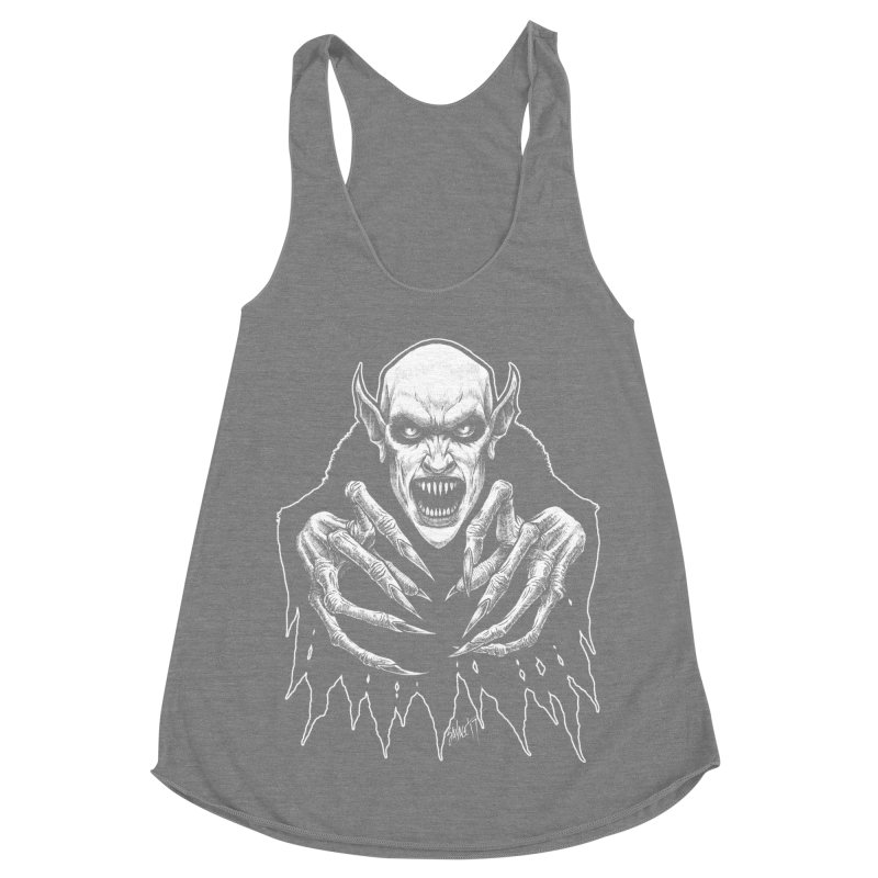 Nosfera-tude Women's Racerback Triblend Tank by The Dark Art of Chad Savage