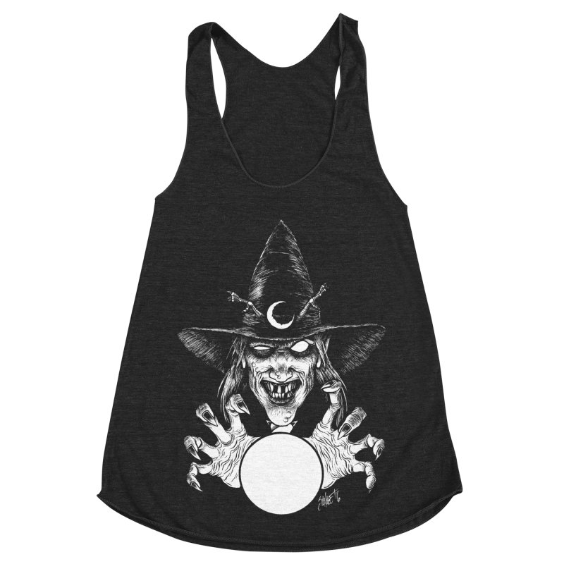 Thaumaturge Women's Racerback Triblend Tank by The Dark Art of Chad Savage