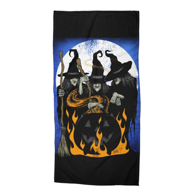 Cauldron Crones Accessories Beach Towel by The Dark Art of Chad Savage