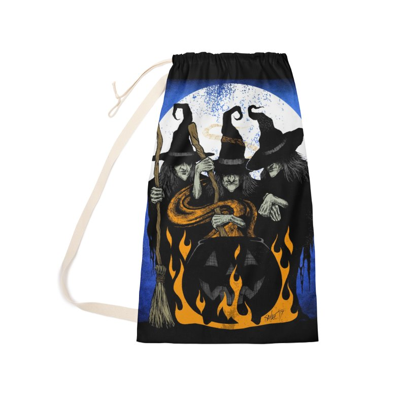 Cauldron Crones Accessories Laundry Bag Bag by The Dark Art of Chad Savage