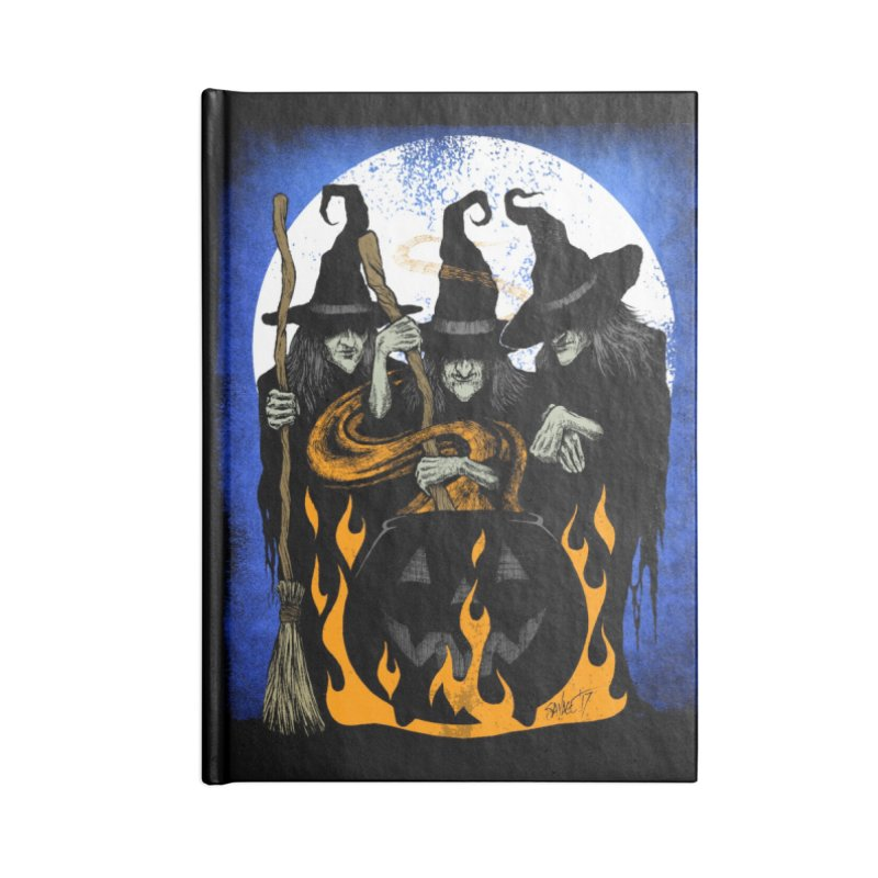 Cauldron Crones Accessories Blank Journal Notebook by The Dark Art of Chad Savage