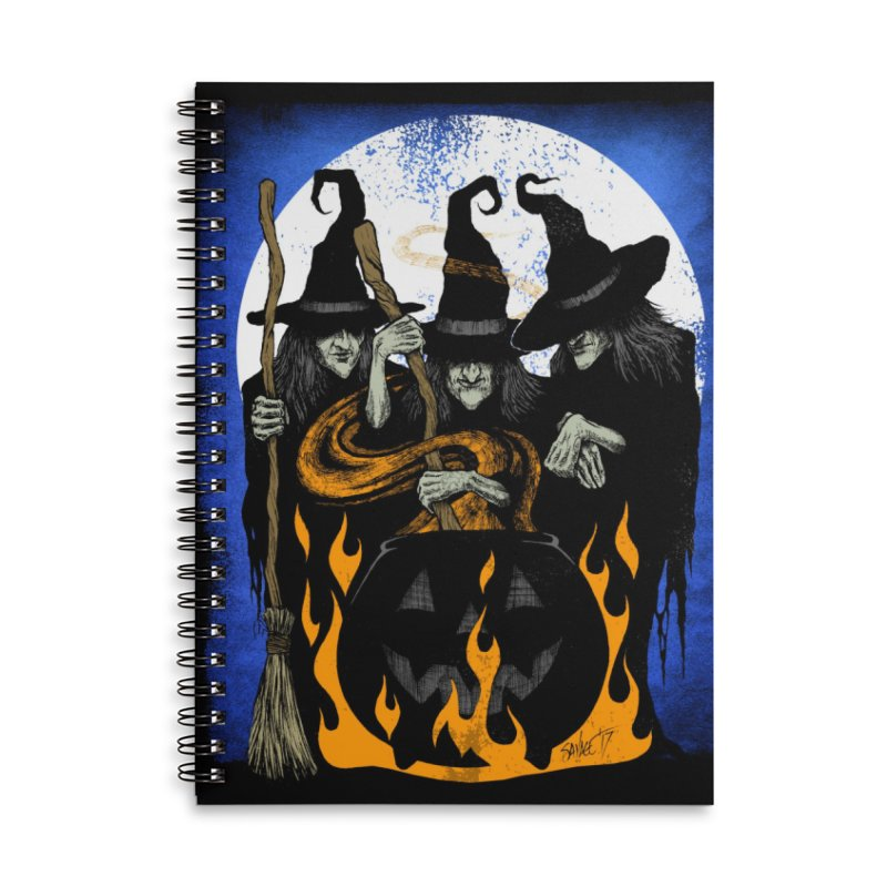 Cauldron Crones Accessories Lined Spiral Notebook by The Dark Art of Chad Savage