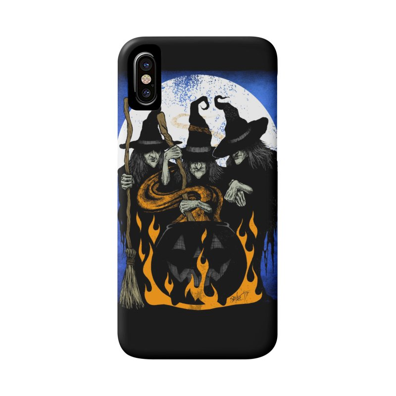 Cauldron Crones Accessories Phone Case by The Dark Art of Chad Savage
