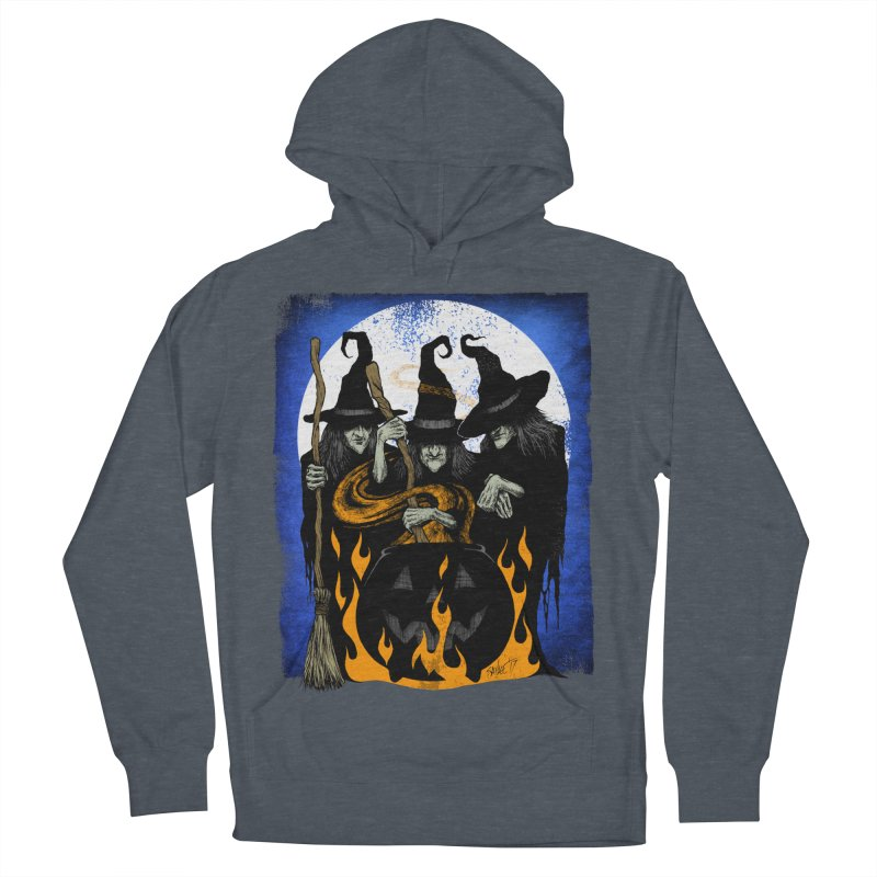 Cauldron Crones Men's French Terry Pullover Hoody by The Dark Art of Chad Savage